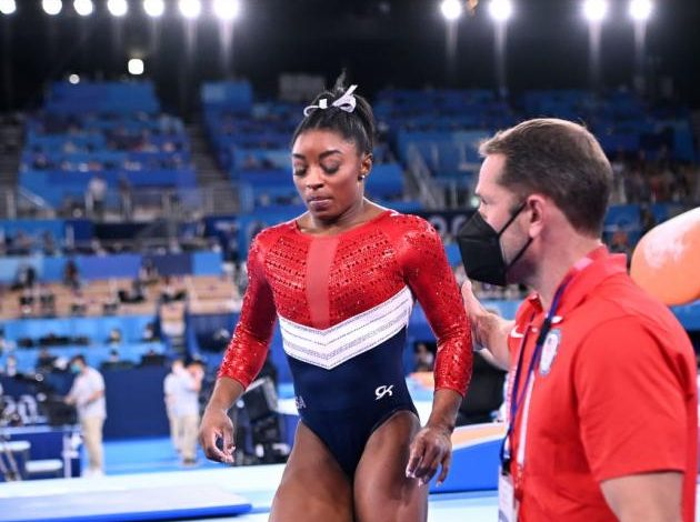 Biles withdraws from individual all-around Olympic final