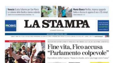 La Stampa - Doors reopened