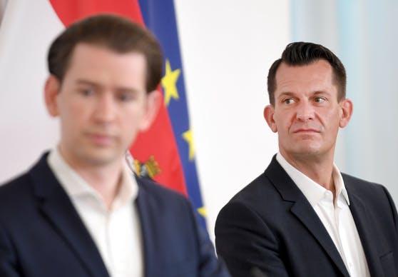 Federal Chancellor Sebastian Kurz (ÖVP) and Health Minister Wolfgang Mückstein (Greens).