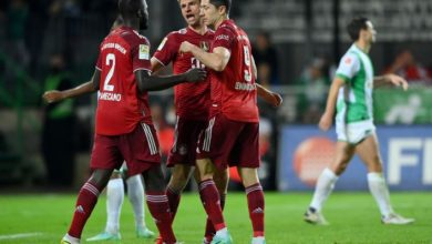 Bundesliga sent off from Pavard