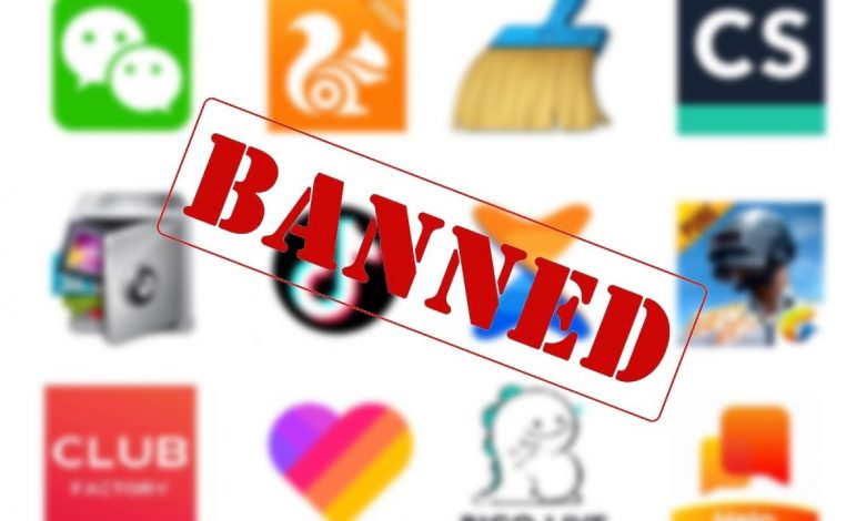 Top 5 Chinese banned apps