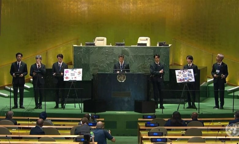 SDGs meeting BTS also made a speech at the United Nations